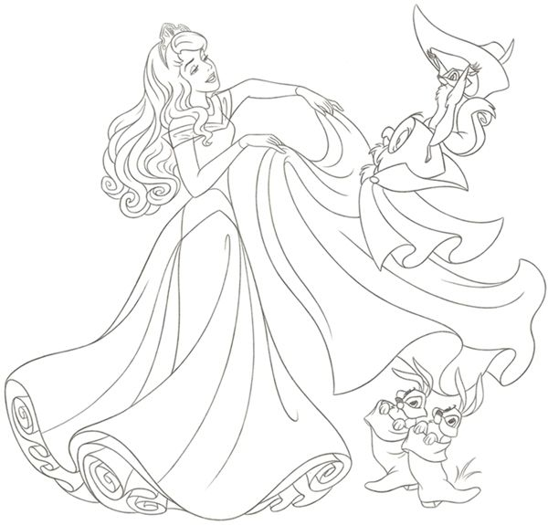 Disney Princess new redesign - Style Guide Art by Cyndy Bohonovsky - new disney princess coloring pages sleeping beauty