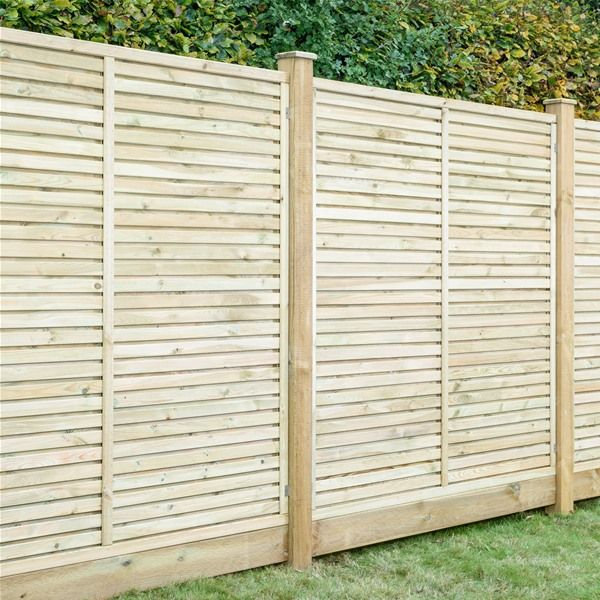 Grange Contemporary Vogue Wooden Fence Panels 6ft Internet Gardener Garden Fence Panels Fence Panels Wooden Fence