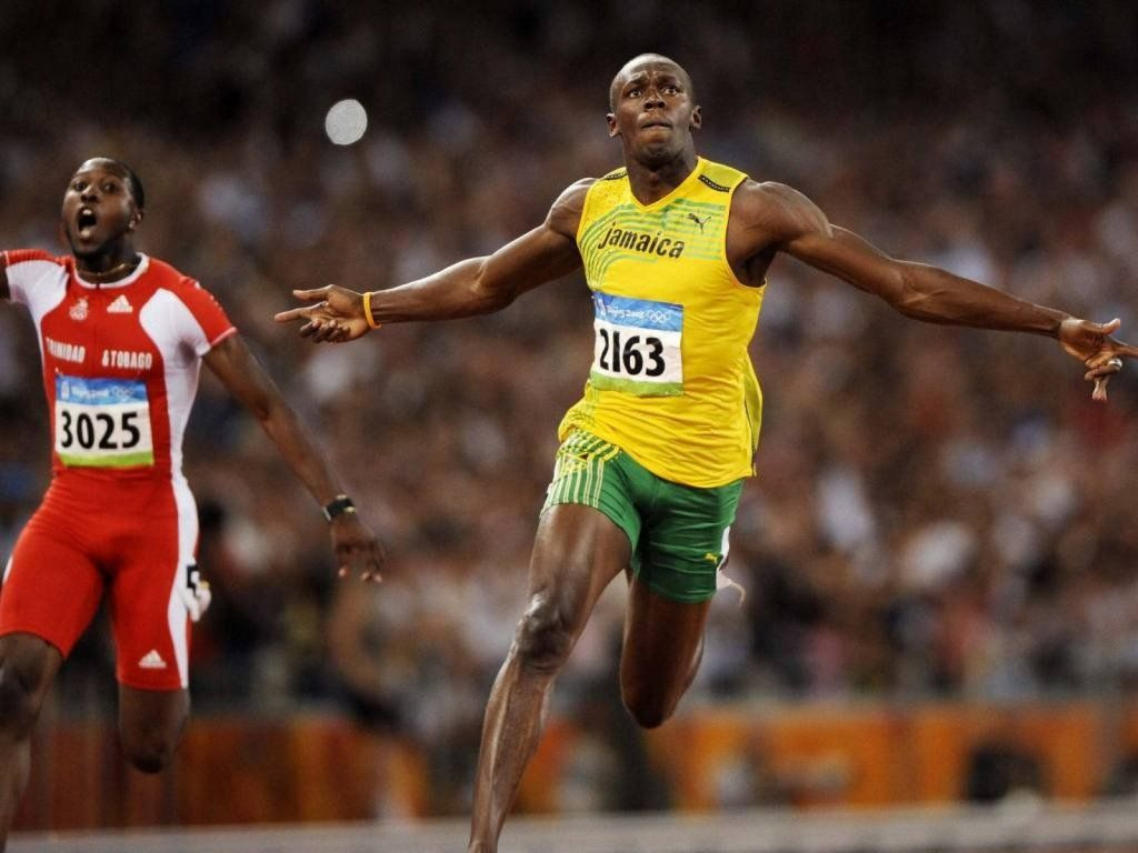 9.58 Usain Bolt smashes his previous 100m world record in ...