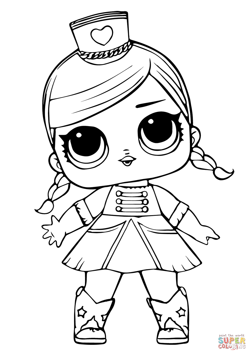 Lol Doll Majorette Super Coloring Unicorn Coloring Pages Coloring Pages Lol Dolls