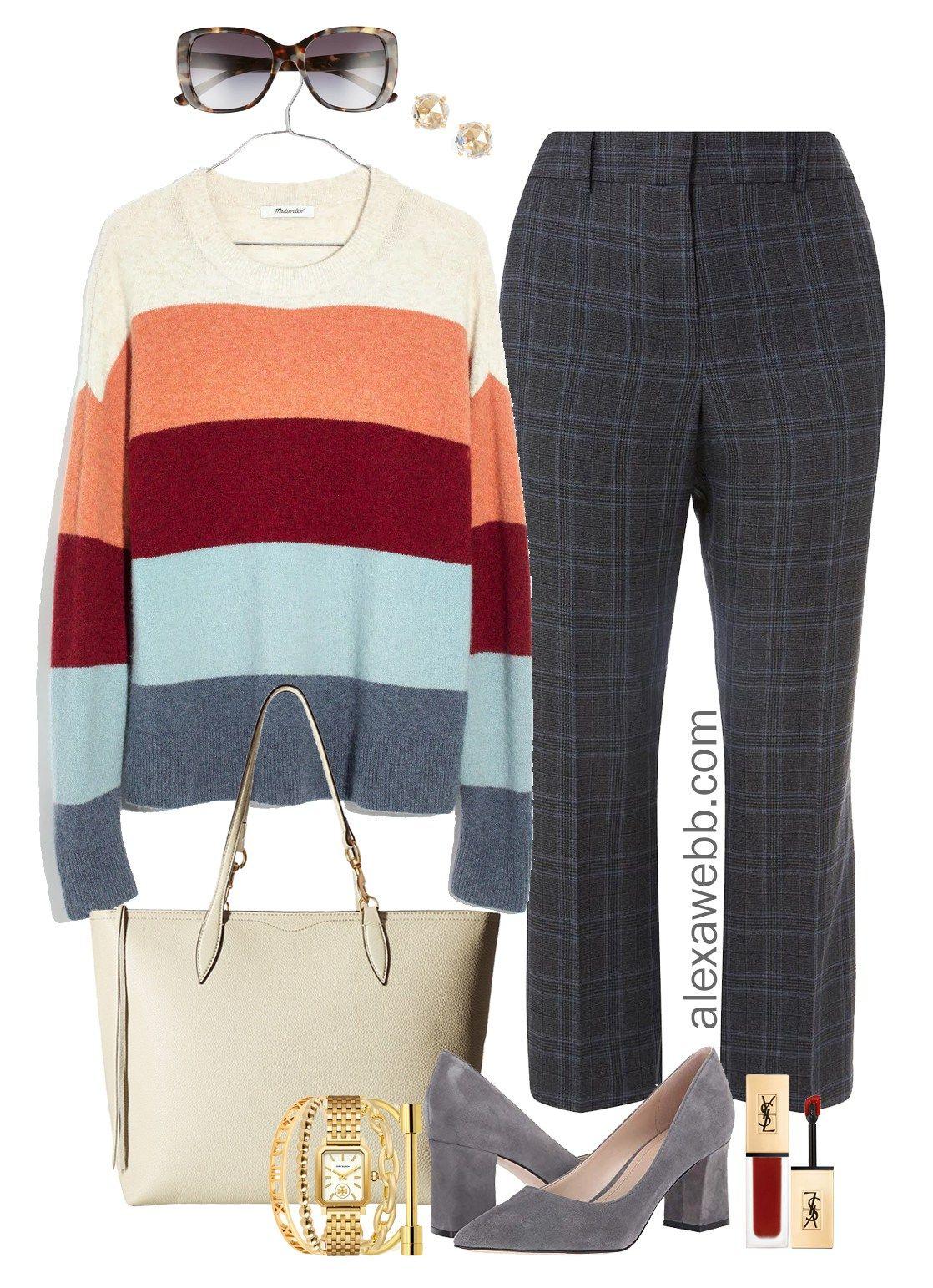 fc4b5fd64b2 Plus Size Winter Work Outfit - Plus Size Plaid Pants Outfit Idea - Plus  Size Fashion for Women - alexawebb.com  plussize  alexawebb