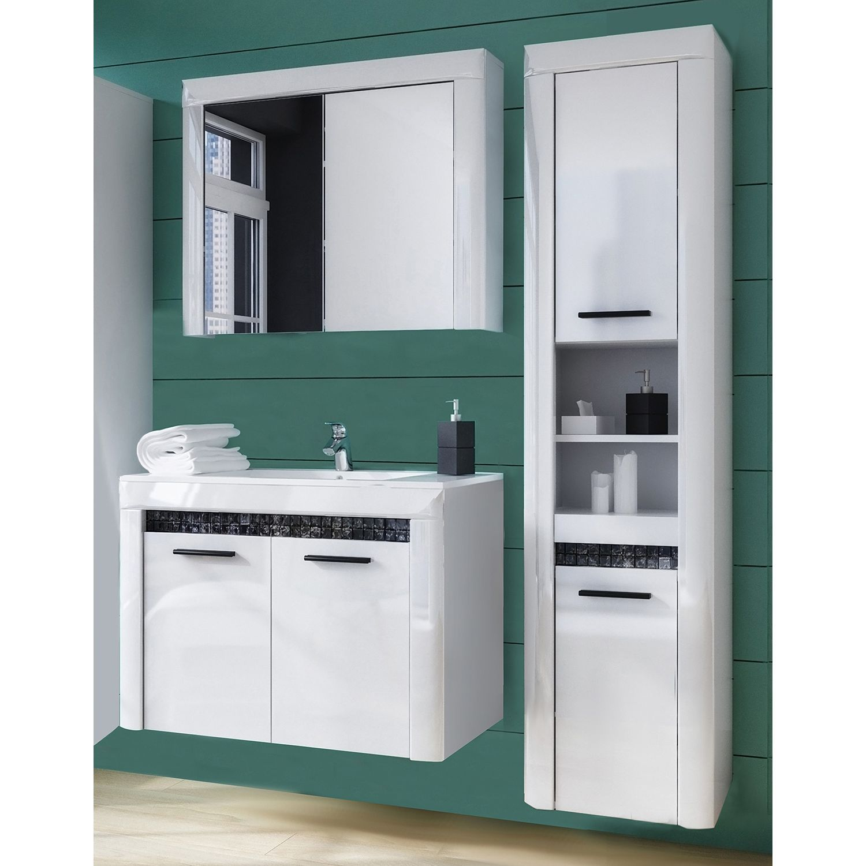 Badezimmerset Charnocks I 3 Teilig Badezimmer Schrank Schrank Waschbeckenunterschrank