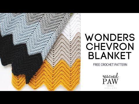 Wonders Chevron Blanket Crochet Pattern - YouTube | Crochet projects ...