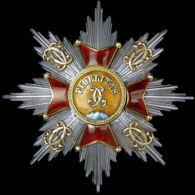 Baden German State Order of Fidelity breast star  | Grand