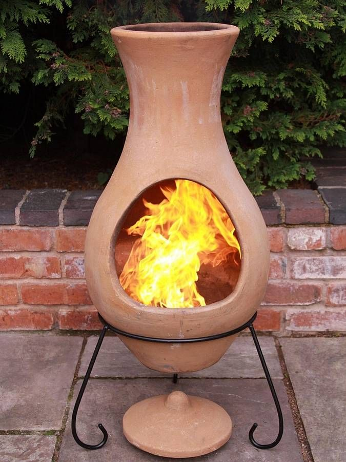 Terracotta chimenea decoracion pinterest estufas barro y salamandras - Chimeneas de barro ...