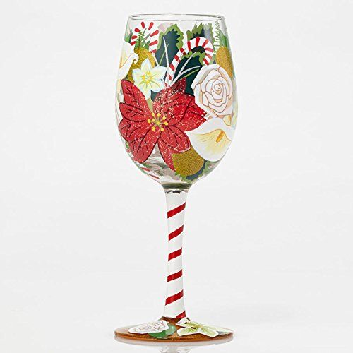 Enesco Holiday Bouquet Wine Glass by Lolita 105 * Check out the image by visiting the link.Note:It is affiliate link to Amazon.