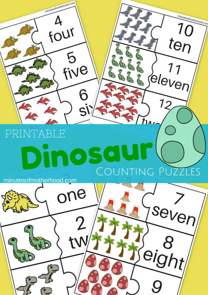 dinosaur counting cards for preschool 1 12 teaching preschool dinosaur theme preschool. Black Bedroom Furniture Sets. Home Design Ideas