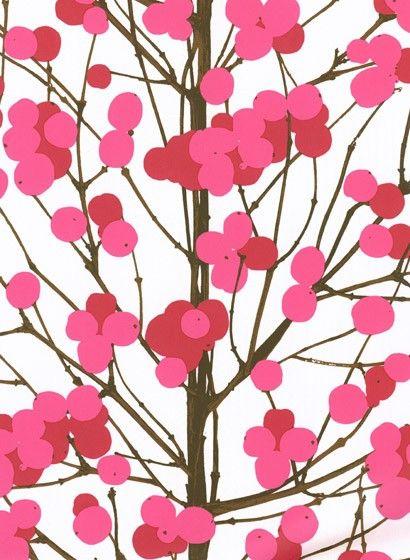Marimekko Tapete Lumimarja Pink Paperpatternprint Pinterest