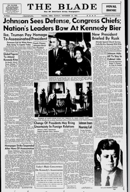 23 Front Pages From 1963 Covering The Day President Kennedy Was