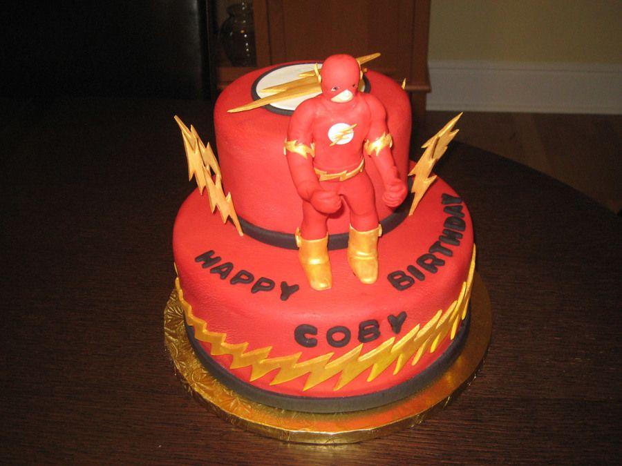 "D.C. Comics ""The Flash"" birthday cake"