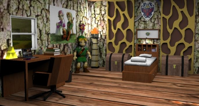 Legend of zelda themed children 39 s bedroom ideas legend for Decoration zelda