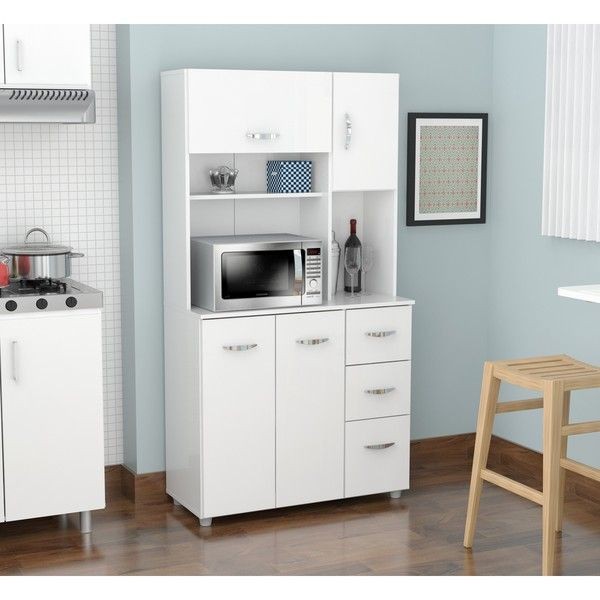Kitchen Storage Furniture Magnificent Inval America Llc Laricina White Kitchen Storage Cabinet Laricina 2017