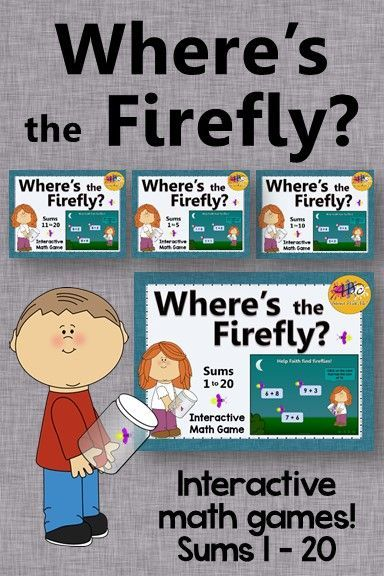 Where\'s the Firefly? Sums 1 to 20 Bundle (Interactive Addition Games ...