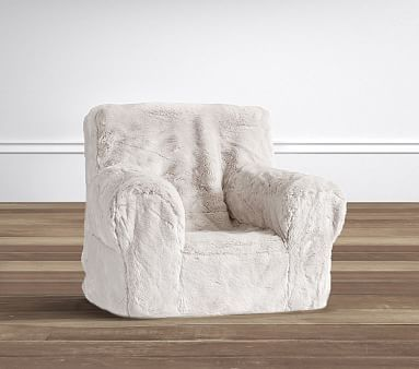 Incredible Gray Faux Fur Anywhere Chair Slipcover Only People Beatyapartments Chair Design Images Beatyapartmentscom