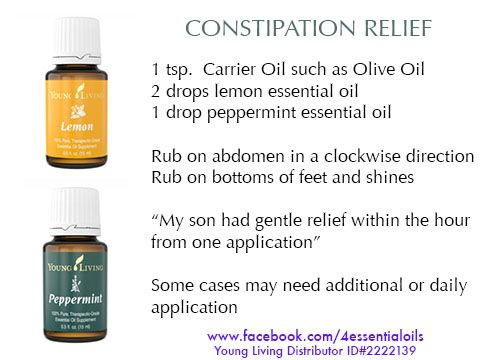 how to use peppermint oil for constipation