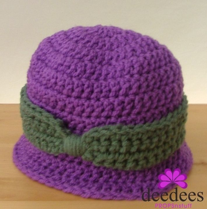 ~♦~ NEW Crochet Baby CLOCHE HAT - Photography Prop - 0-3M -- QLD MADE ~♦~