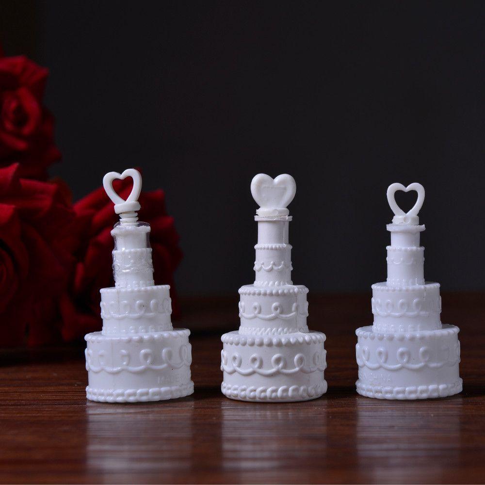 Lot 12pcs Wedding Decoration Bubble Bottle Cake Heart Style