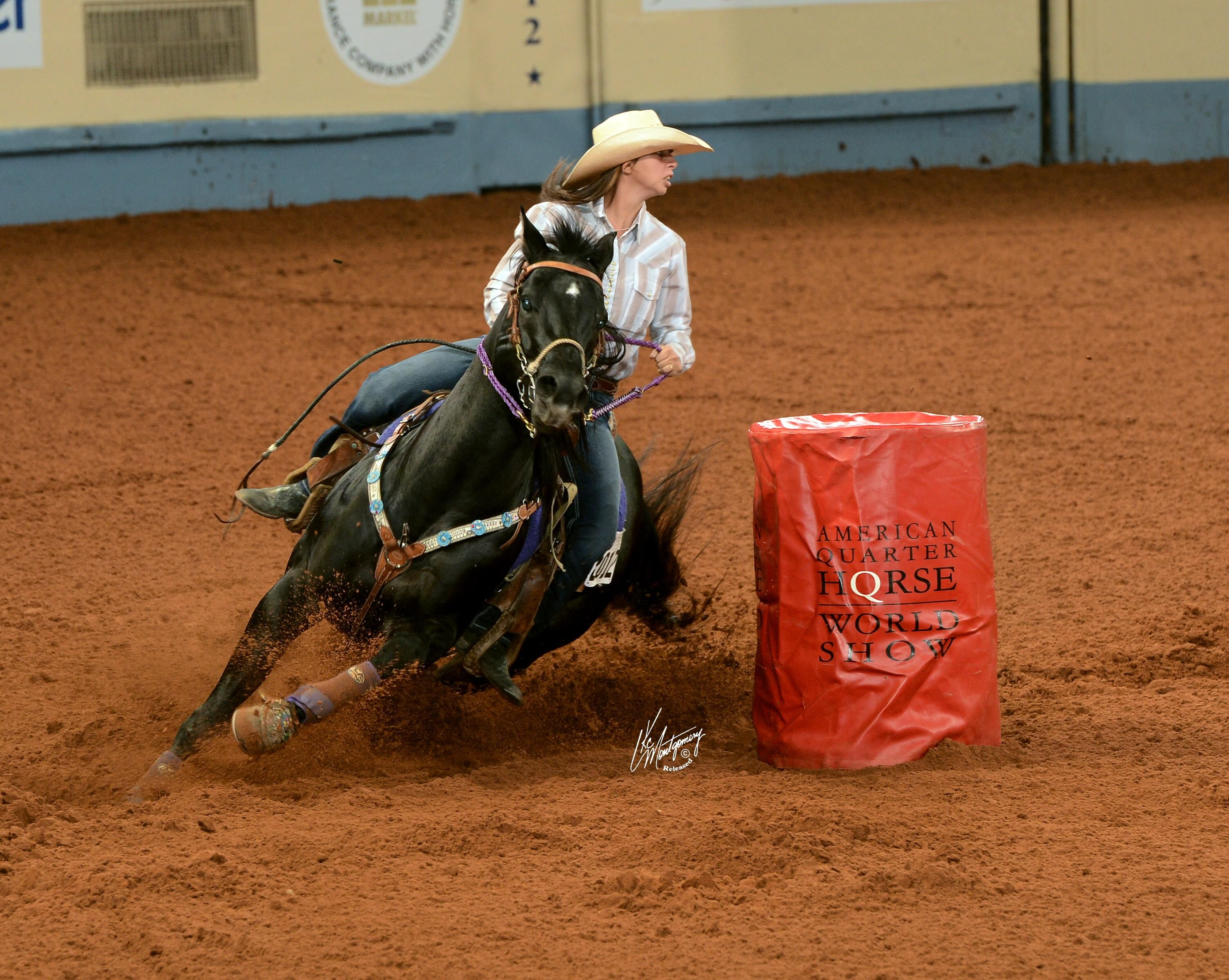 Black quarter horses barrel racing - photo#11