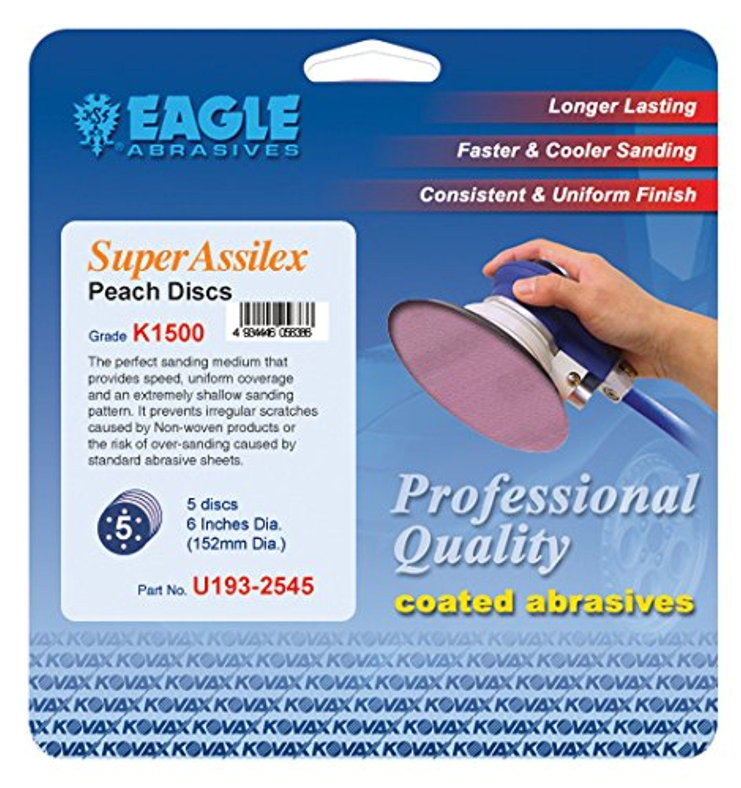Eagle U193-2545 - 6 inch Super Assilex Discs - Peach - (Job-Pak) - 5 Discs/Pack - 1 Pack -- Awesome products selected by Anna Churchill