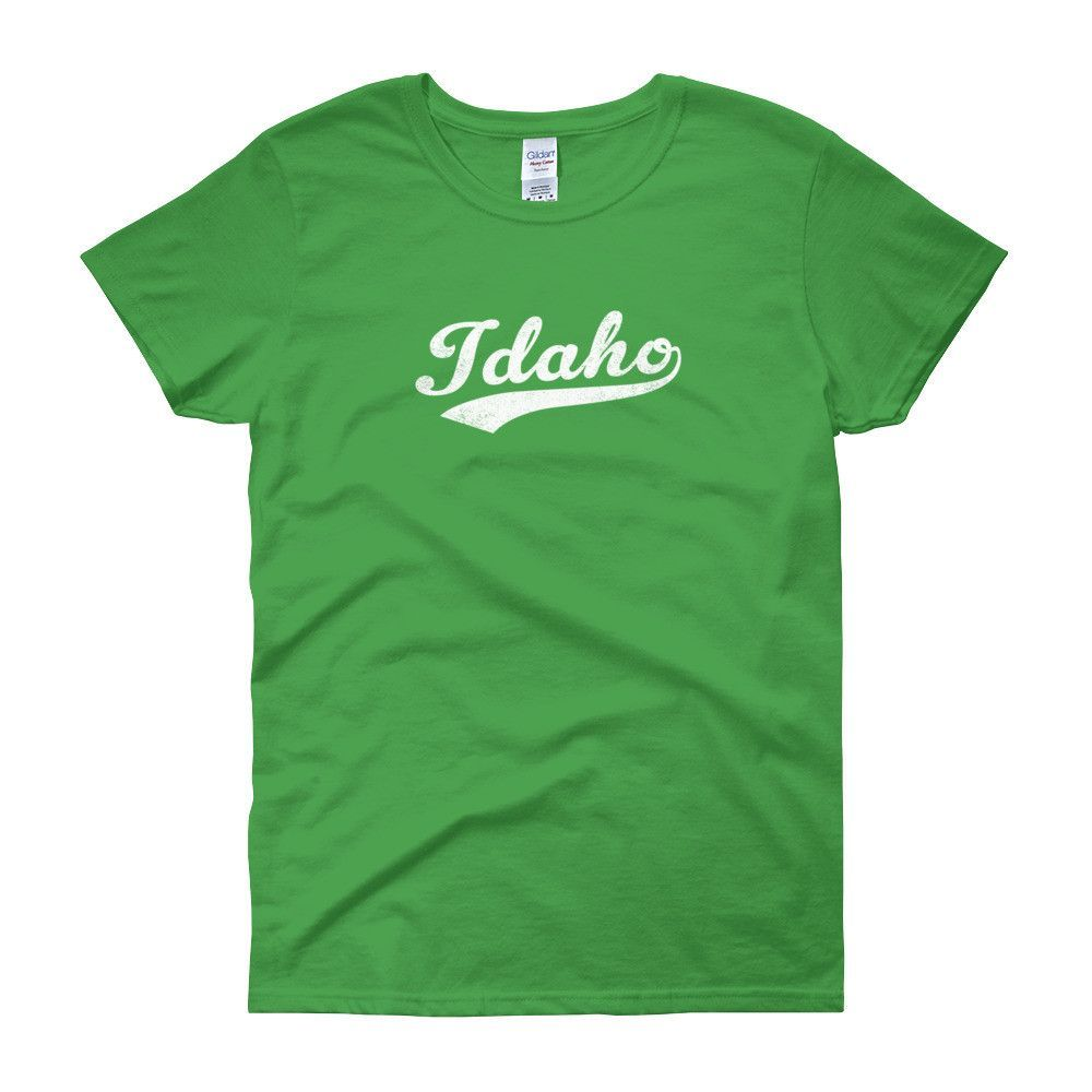 Vintage Idaho ID Women's T-Shirt with Script Tail Design