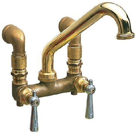 Waxman 415300 2 Handle Standard Laundry Faucet Polished Brass Utility Sink Faucets Amazon Com Utility Faucets Utility Sink Faucets Barn Sink