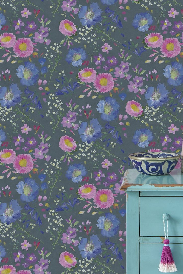 Kippen By Bluebellgray Is A Pretty Floral Wallpaper Design With