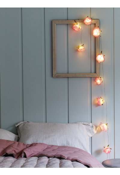 Cool Lighted Flower Garland Hang it Over a Bed for a