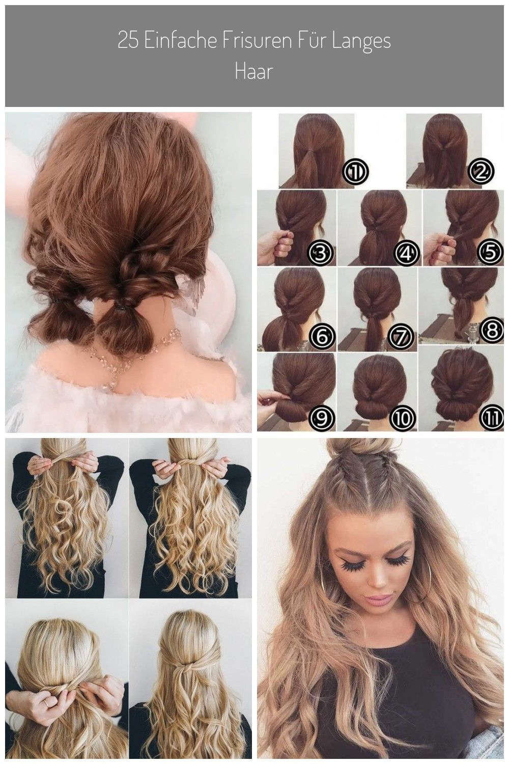 Easy Cute Hairstyle You Can Do It At Home Hair Hairstyle Hairtutorial Hairbun Hairchallenge40 Easy Hairstyle Ideas Fo Cute Hairstyles Hair Tutorial Hair Styles