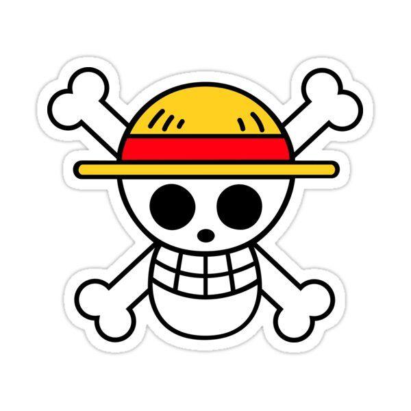 Straw Hat Pirates Sticker By Joeatkinson99 In 2021 One Piece Logo Skull Sticker Logo Sticker