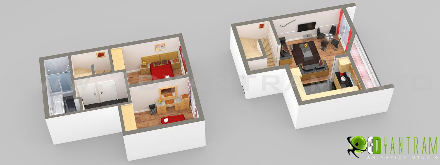 Bon 3D Home Floor Plan Doha UAE 3D Floor Plan Pinterest Floor