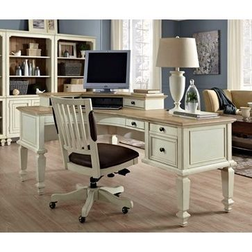 72 Inch Antique White Curved Desk Cottonwood Modern Home Office Furniture Home Office Furniture Home Office Chairs