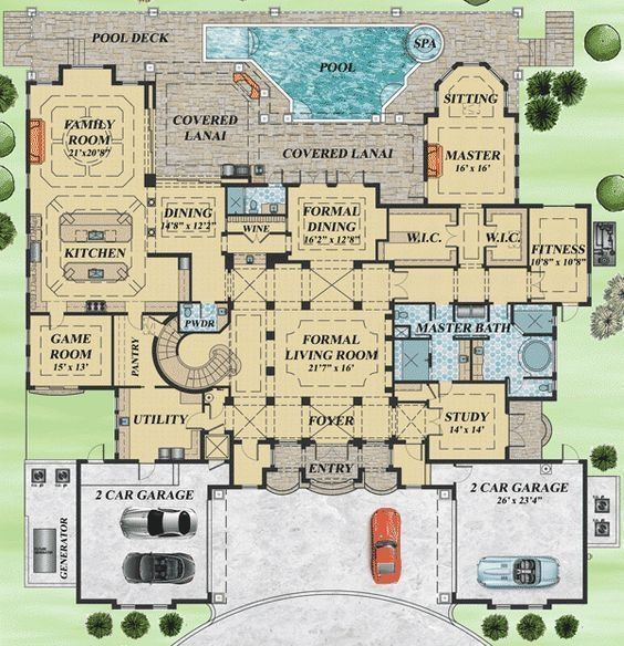 Mediterranean Home Floor Plans: Mediterranean House Plan Filled With Luxury