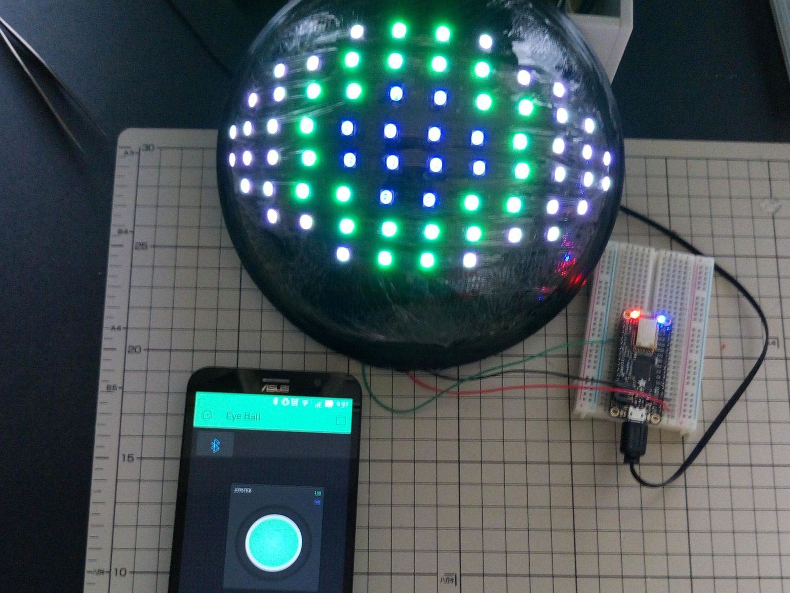 Check this out: Neopixel LED EyeBall by Blynk by
