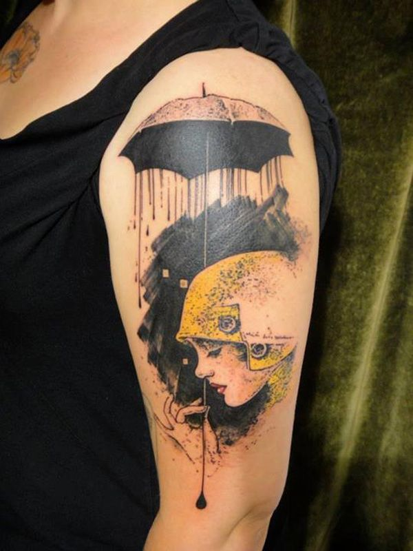 65 Examples Of Watercolor Tattoo Flapper Tattoo Umbrella