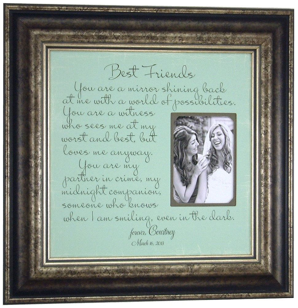 Best Friends Gift Custom Wedding Frame, Bridesmaid You are