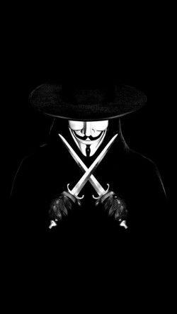 V for Vendetta - une horloge - une rose - un masque- l'anarchie