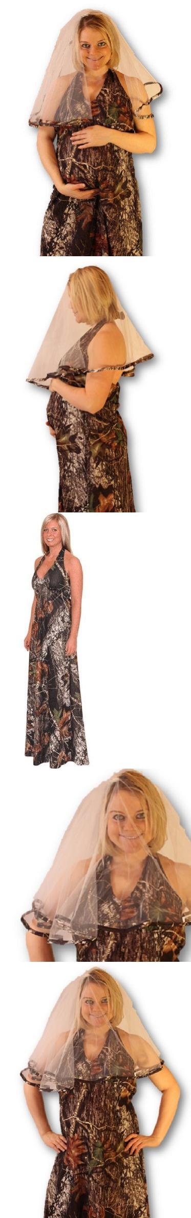 Maternityfriendly mossy oak camo wedding dress u veil package xsx