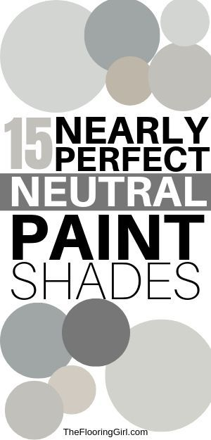 15 Nearly Perfect Neutral Paint Shades #livingroompaintcolorideas