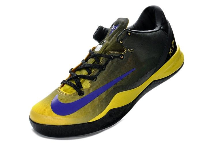 Nike Kobe 8 SYSTEM MC Mambacurial FB Black Yellow Purple! Only $70.90USD