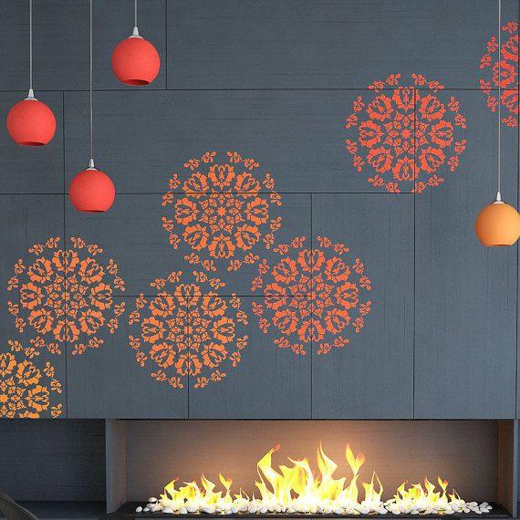 Mandala decoración Stencil - plantilla de pared moderno y único ...