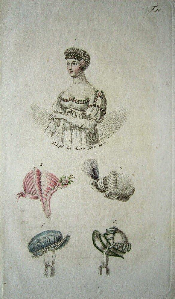 Kleidung um 1800. 1811, Journal des Luxus und der Moden Tafel 34 ...