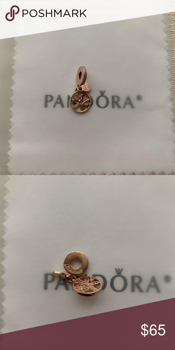 7592b5a389a16 Pandora Rose family tree charm Pandora rose family heritage dangle ...