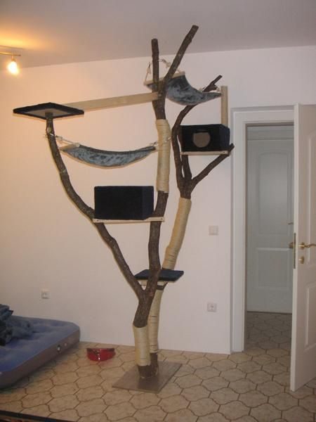 kratzbaum selbstgemacht katzen pinterest. Black Bedroom Furniture Sets. Home Design Ideas