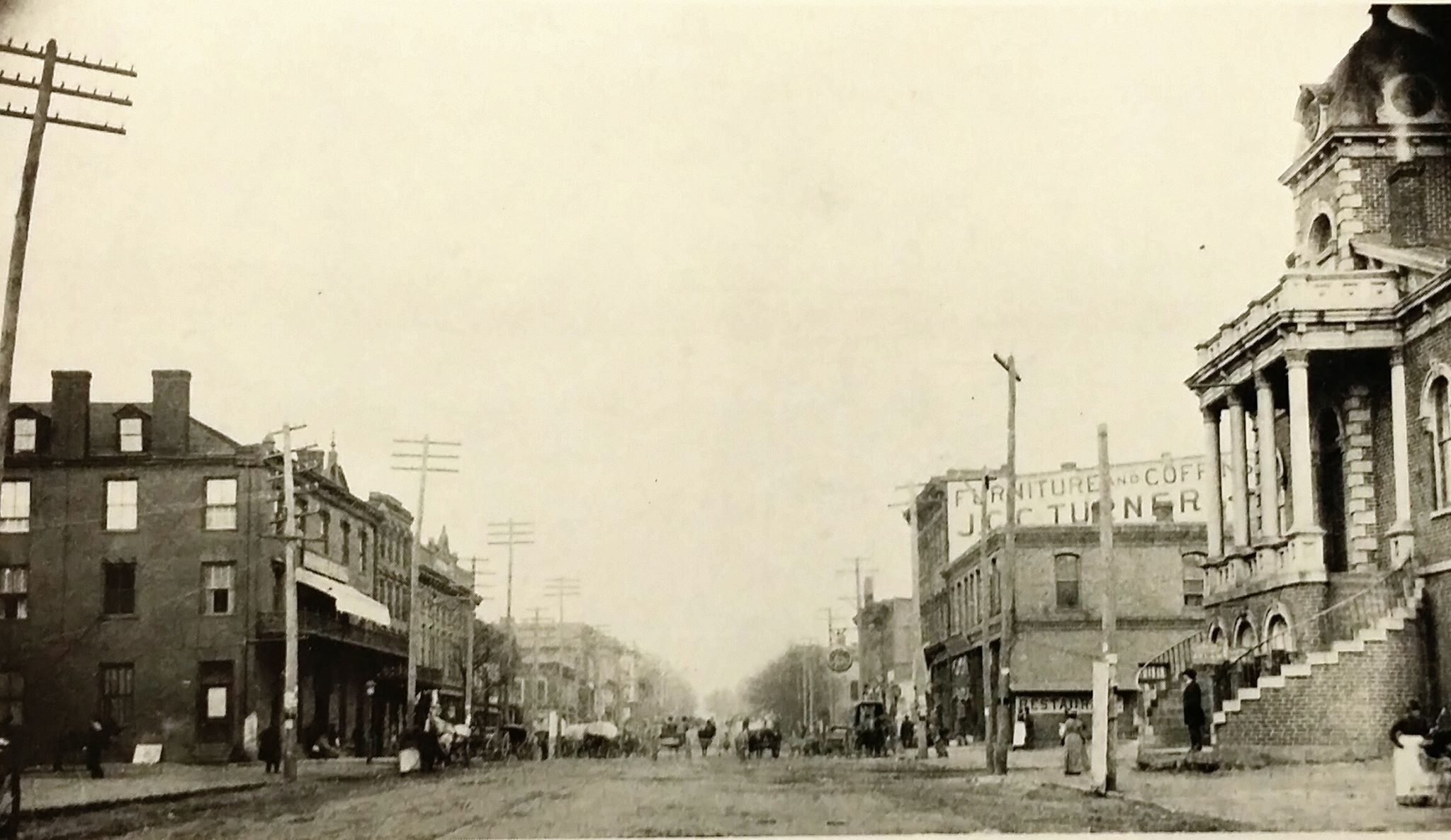 Greenville SC 1890 South carolina, Street view, Old things