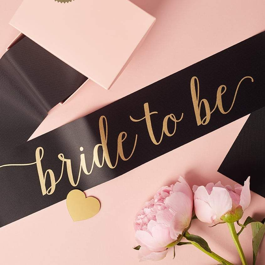 Bride To Be Sash With Heart Pin Bride To Be Sash Hen Party Sash Pink Bride