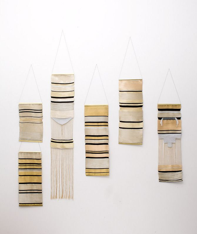 Woven wall hangings by Justine Ashbee of Native Line     nativeline.com