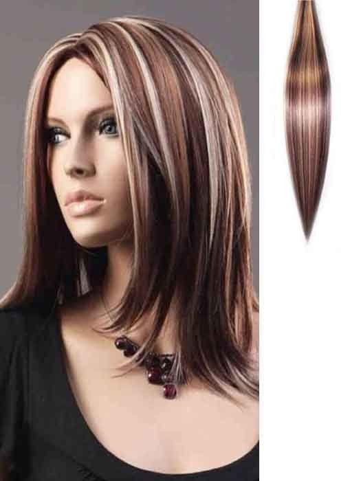 Blonde And Auburn Highlighted Clip In Hair Extensions Jpg
