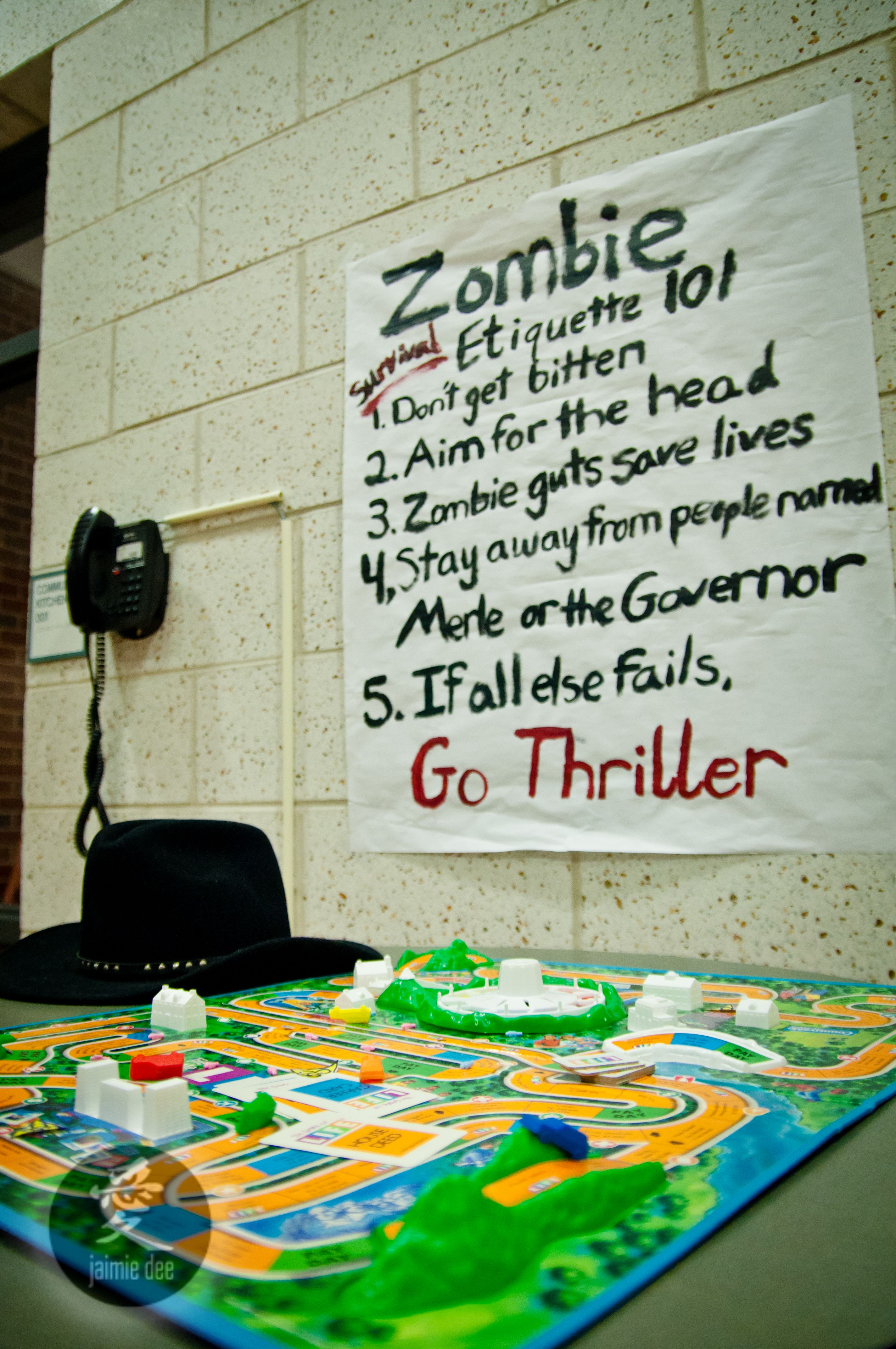 Zombie party ideas zombie party supplies 3 - Not Just Another Party Diy Walking Dead Surprise Party Truly Tricia Find This Pin And More On Zombie Party Ideas