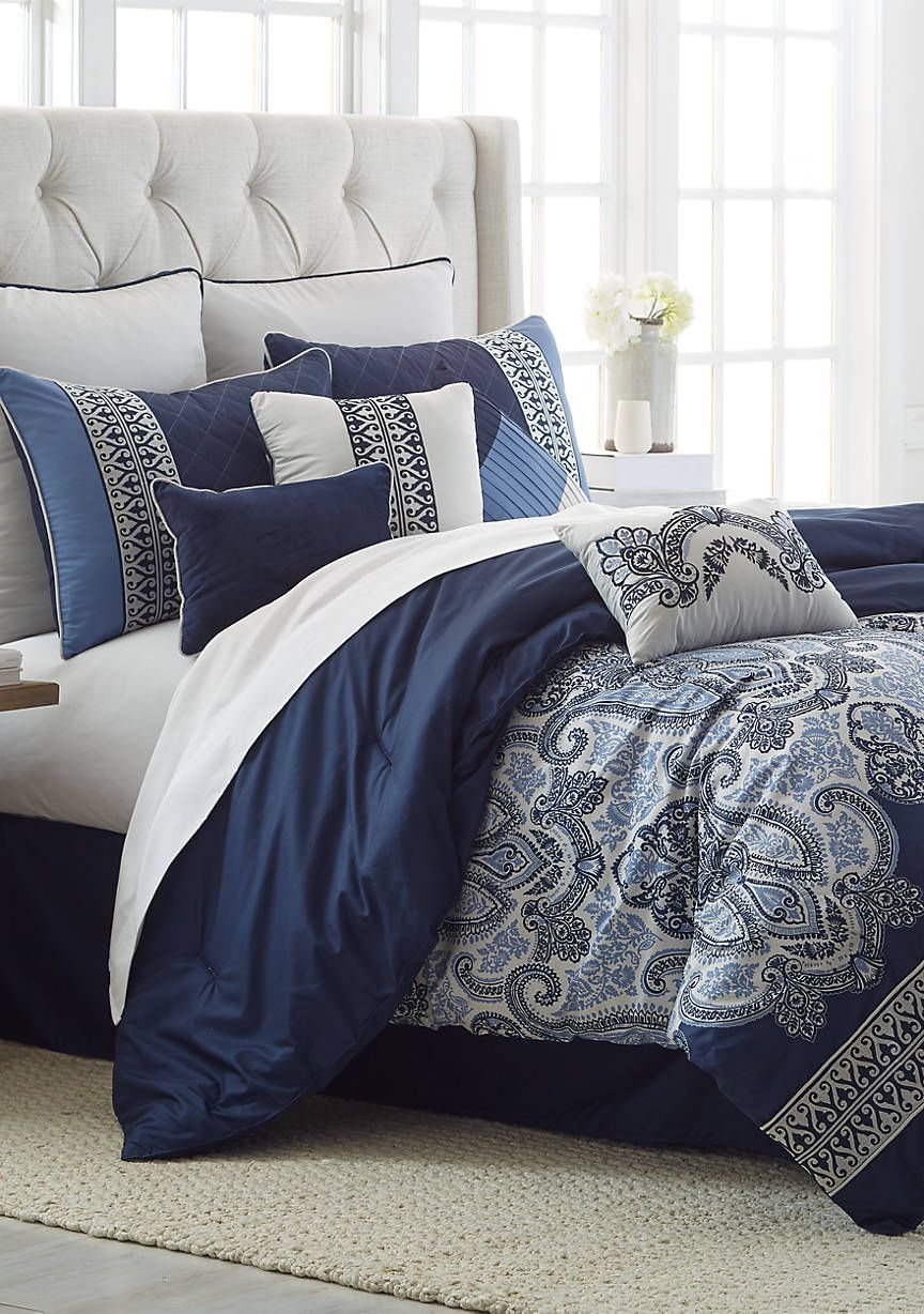 Modern Southern Home Cascades 10 Piece Comforter Bed In A Bag