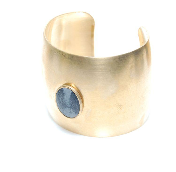 Brass concrete cuff